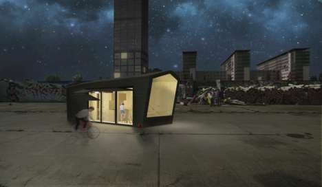 Efficient Rooftop Cabins - The 'Cabin Spacey' Project Makes Use of Empty Roof Space