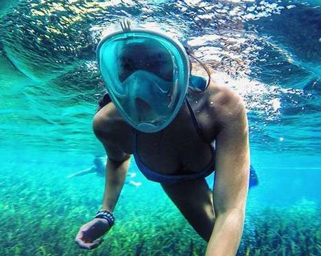 Redesigned Snorkeling Masks - These Snorkeling Masks Make Practice Much Easier