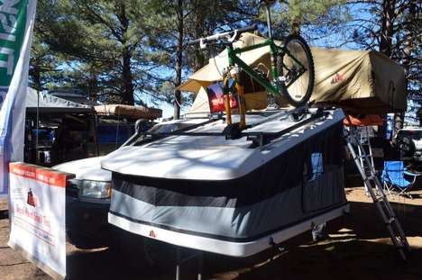 Multifunctional Rooftop Tents - The Project White Lightning Tent Can Be Mounted With Gear Attached
