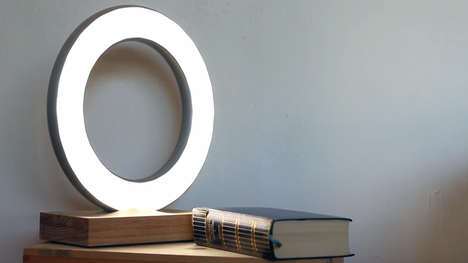 Ring-Shaped Portable Lamps - The Halos is a Rechargeable Lamp That Can Stick to Non-Porous Surfaces