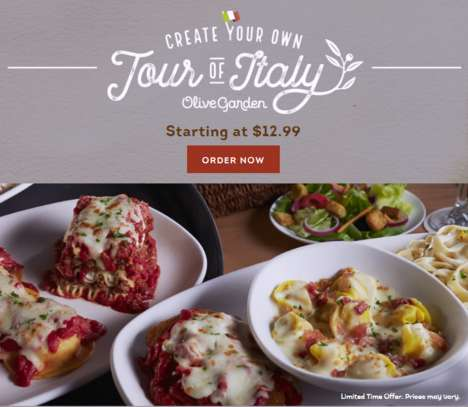 Customizable Italian Menus - The Create Your Own Tour of Italy Menu Lets Diners Customize Their Meal