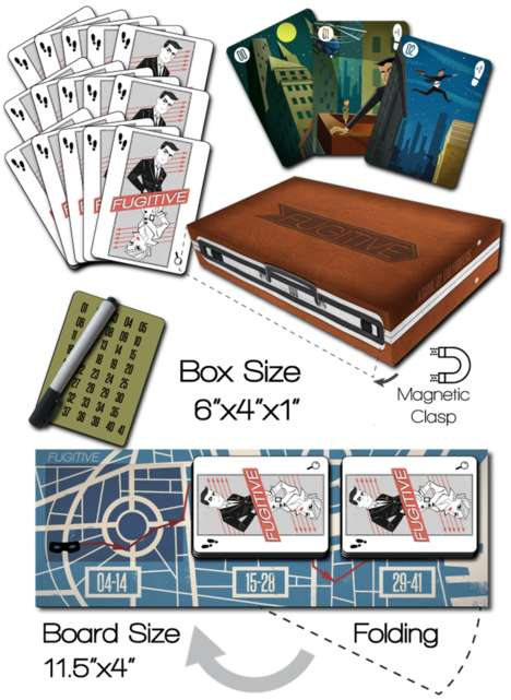 Getaway-Themed Card Games - Fugitive is a Two-Player Game Based on a Great Escape