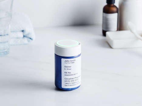 High Tech Prescription Trackers - Round Refill Reminds Regular Pill Takers and Renews Prescriptions
