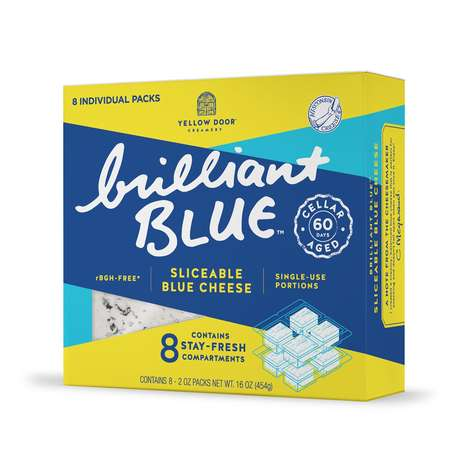 Individually Wrapped Cheese Cubes - 'Brilliant Blue' Blue Cheese Cubes Come in Single-Serving Sizes