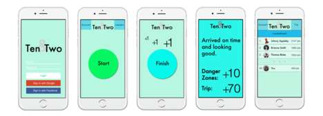 Gamified Distracted Driving Apps - The 'ten&two' App Rewards Drivers for Not Checking Their Phone