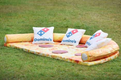 Pizza-Themed Sofas - The Pizza Boy Sofa is the Perfect Spot for Enjoying a Fresh Slice