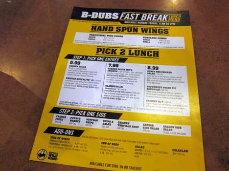 Speedy Lunch Guarantees - Buffalo Wild Wings Now Offers a 15 Minute Guarantee on Its Lunch Menu