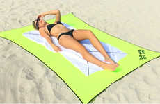 Stretchable Beach Blankets - Beach Bottoms is a Compact and Stretchable Beach Blanket