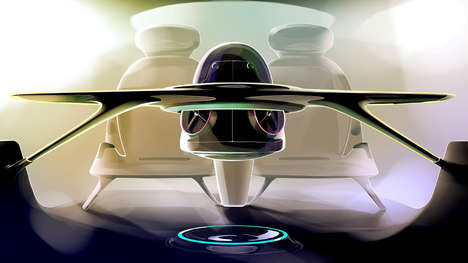 Auto-Steering Drones - The Alphavein Offers a Panoramic View Outside a Car for Seamless Driving