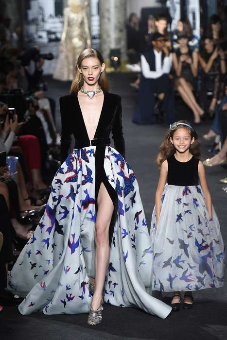 Mother-Daughter Haute Couture - Elie Saab Haute Couture Featured Mom & Daughter Gowns on the Runway
