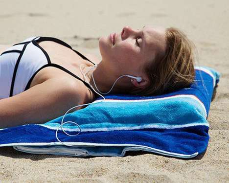 Phone-Protecting Beach Towels - This Multi-Purpose Beach Towel is Both Stylish and Functional