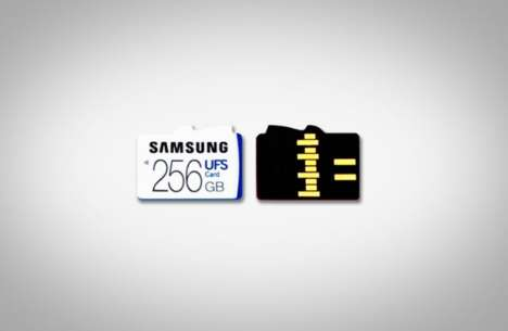 Speedy Storage Cards - Samsung Releases Universal Flash Memory Cards With Powerful Speed Reading