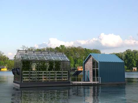 Eco-Friendly Floating Greenhouses - The Eco Barge Cruises the Danube in a Sustainable Fashion