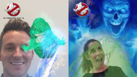 Ghoulish Social Media Filters - The Ghostbusters Film is Using a Snapchat Filter to Get Tickets Sold