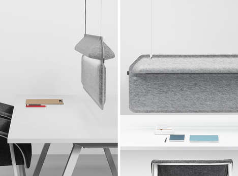 Dividing Office Lights - The Workspace Divider Lamp Provides Privacy in Open Concept Layouts