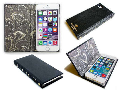 Literary Smartphone Cases - The Bookshelf for iPhone Disguises the Device as a Leather-Bound Novel
