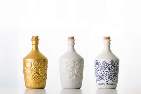 Contemporary Artist Sakes - Creative Takashi Murakami Releases a Sake Blend and Matching Bottles