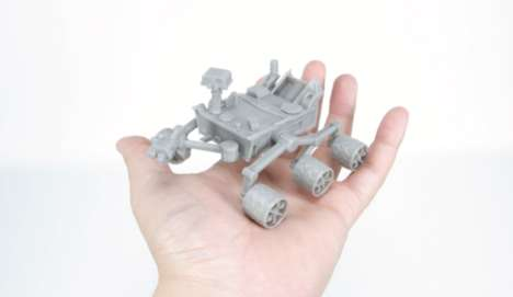 3D-Printed Rover Models - This 3D-Printed Model from NASA Mimics the Design of the Curiosity Rover