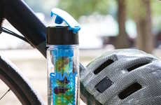Hydration-Encouraging Bottles - Flip Top Sport Infuser Bottle Uses Fruit to Promote Drinking Water