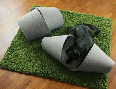 Portable Pet Cozies - The Petcozy's Geometric Shape Doubles as a Cat Play Area and Bed
