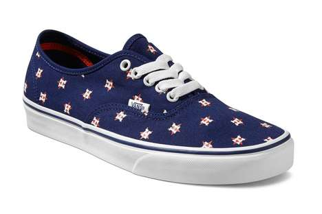 Sporty Baseball Sneakers - The Vans MLB Footwear Collection Celebrates the Team Styles