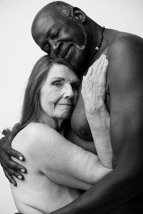 Amorous Interracial Portraits - Nude Photographs of This Elderly Interracial Couple Have Gone Viral