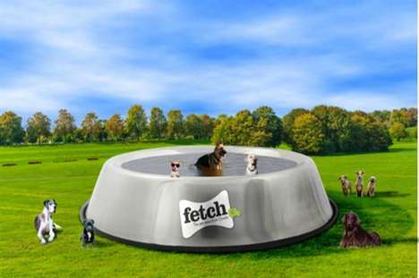 Dog Bowl Pools - Fetch's Big Dog Bowl Reminds Pet Owners of the Importance of Hydration