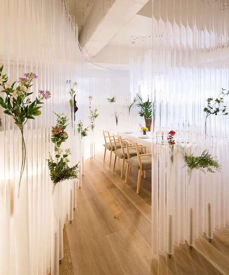 Tube-Lined Restaurants - This Restaurant Shows Off a Fresh Botanical Design