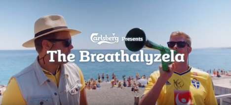 Brethalyzer Noisemakers - This Vuvuzela by Carlsberg Only Works When Alcohol is Consumed Responsibly