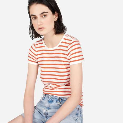 Stripes-Only Clothing Lines - The Everlane x Gia Coppola Features Nothing but Striped Garments