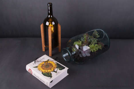 Wine Bottle Lamps - This Lamp Looks Like a Combination of a Rocket and a Wine Bottle