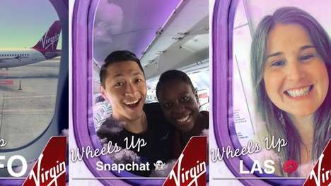Branded Airline Geofilters - Virgin America's Geofilter Frames Selfies with Tinted Airplane Windows