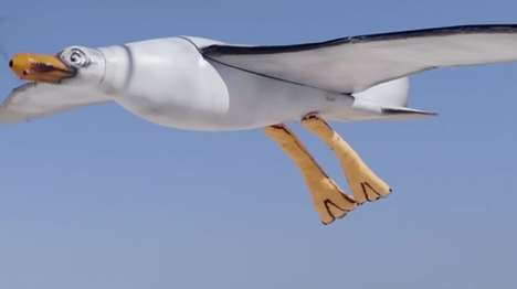Bird-Shaped Sunscreen Dispensers - This Remote-Controlled Robotic Bird Provides Nivea Sun Protection