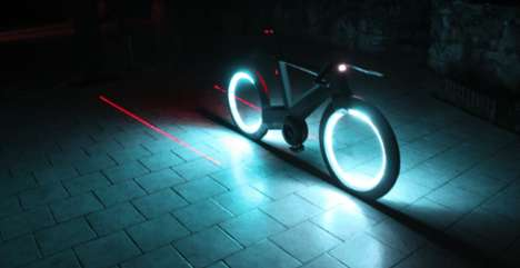 Futuristic Smart Bikes - These Futuristic Bikes Have Wheels That Light Up at Night