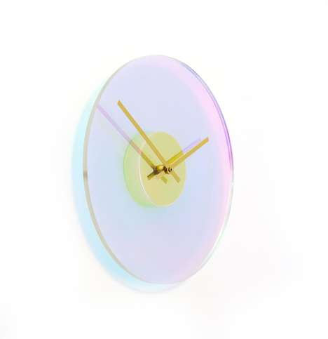 Color-Changing Wall Clocks - The 'Chameleon Series' Clock Features a Changing Clock Face
