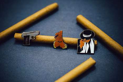 Rapper Album Pins - Jay-Z Album Artist Jonathan Mannion Helped to Create a Series of Tribute Pins