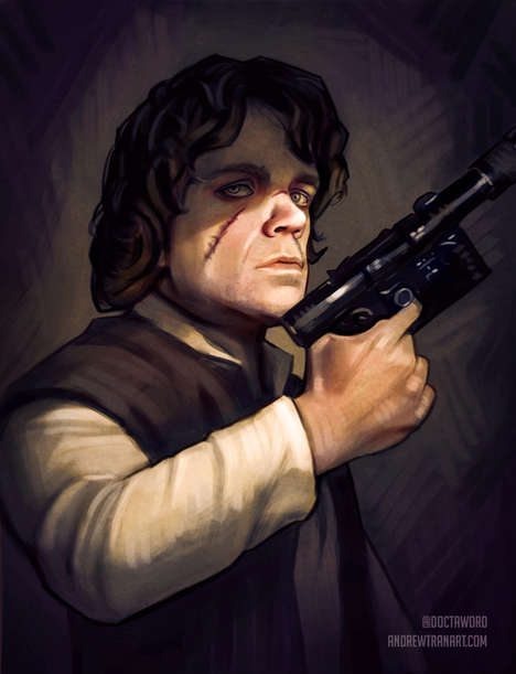 Fandom-Inspired Mashups - These Game of Thrones Characters are Re-Imagined into a Star Wars Universe