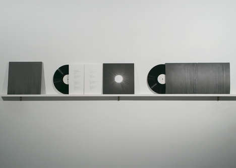 Sound Wave Record Covers - This Concrete Cover Displays the Sound Waves from The Record's Music
