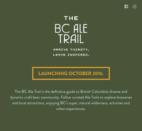 Exploratory Ale Tastings - The 'BC Ale Trail' Encourages the Discovery of Products and Places