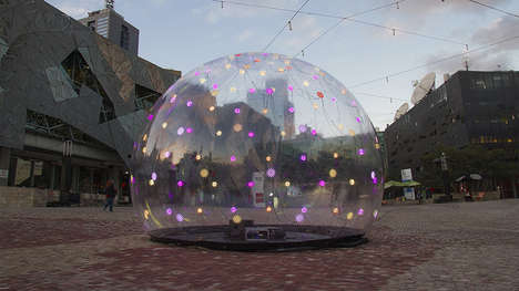 Interactive Sonic Bubbles - The ENESS Light Sculpture Installation is Responsive to  Human Touch
