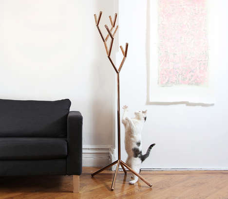 Modular Coat Racks - This Expandable Coat Rack Resembles a Leafless Tree