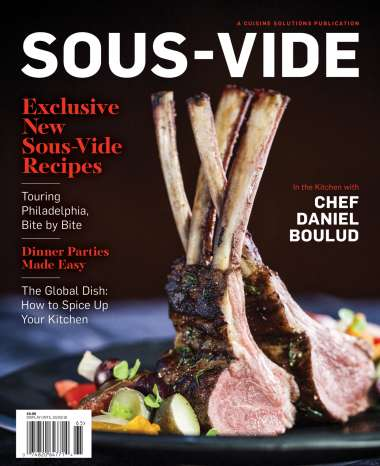 Ad-Free Culinary Magazines - Cuisine Solutions Presents 'Sous-Vide,' an Ad-Free Culinary Publication