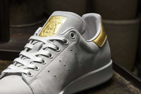 Medal-Inspired Sneakers - adidas' New Stan Smiths are Decorated with Gold Accents
