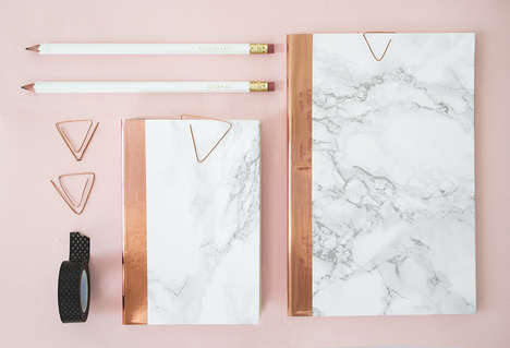 DIY Luxury Notebooks - This Artist Uses Copper Accents to Decorate Notebooks
