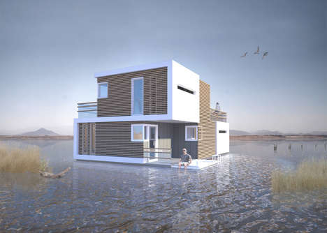Divorce-Simplifying Home Designs - This Floating House Concept Was Designed To Make Divorces Easier