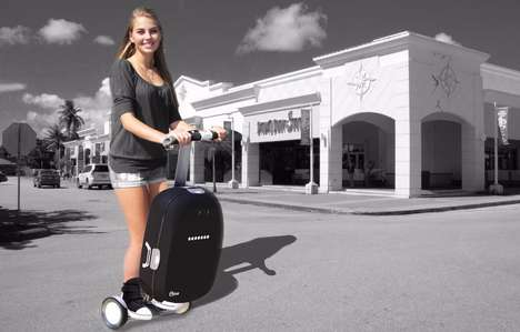 Intelligent Robotic Suitcases - 'Olive' from Ikap Robotics Turns Your Luggage into a Robotic Helper