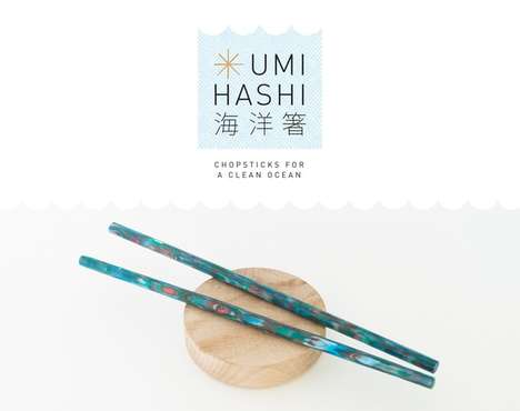 Upcycled Plastic Chopsticks - These Reclaimed Plastic Chopsticks Work to Reduce Ocean Waste
