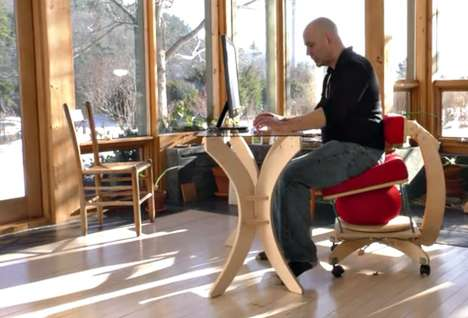 Posture-Improving Chairs - The Sprang Chair Promotes Dynamic Sitting For Better Health