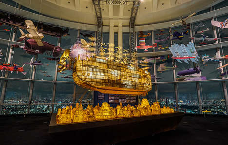 Floating Anime Ships - The 'Castle in the Sky' Installation in Tokyo Celebrates Studio Ghibli's Work