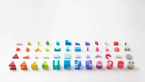Elegantly Technicolor Block Toys - The KUUM Wooden Puzzles are Geared to Both Children and Adults